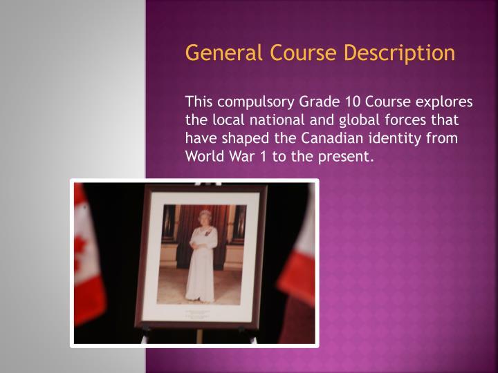 General Course Description