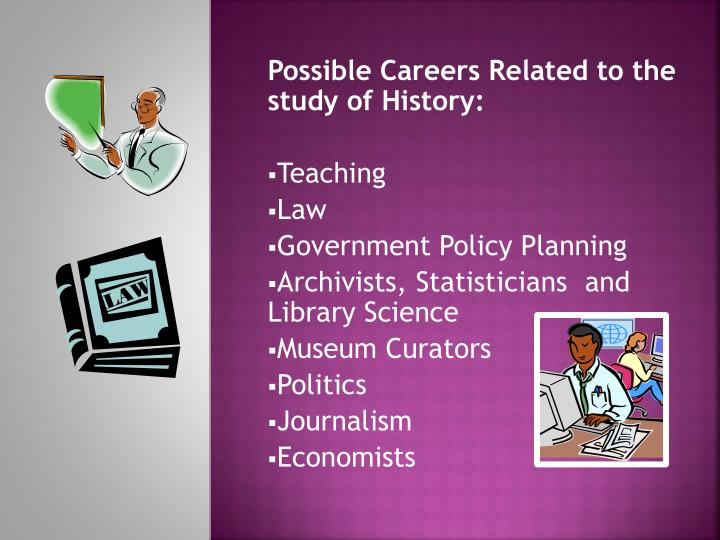 Possible Careers Related to the study of History: