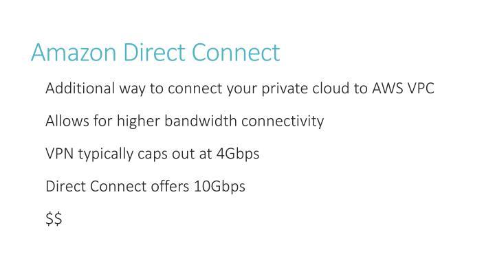 Amazon Direct Connect