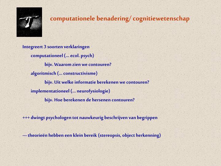 computationele benadering/ cognitiewetenschap