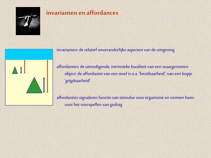 invarianten en affordances