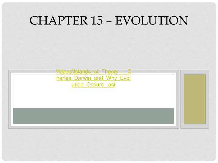 Chapter 15 evolution
