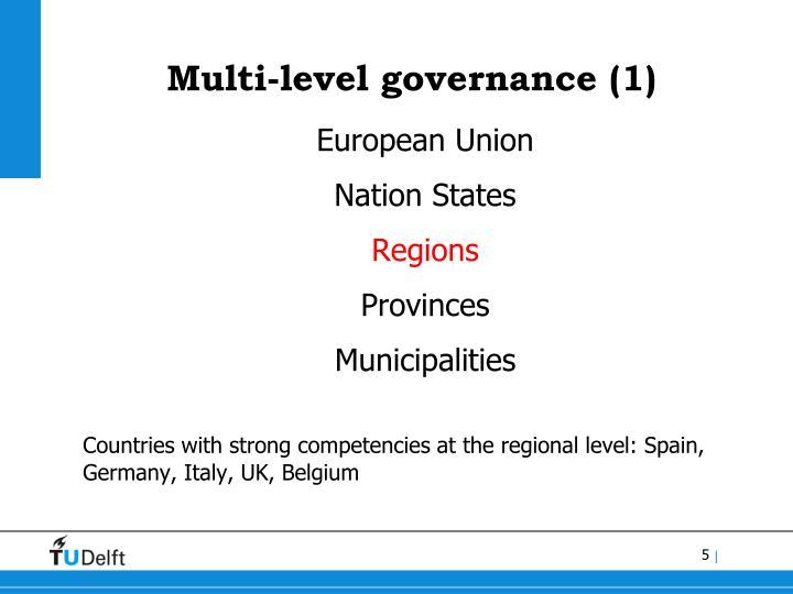 Multi-level governance (1)