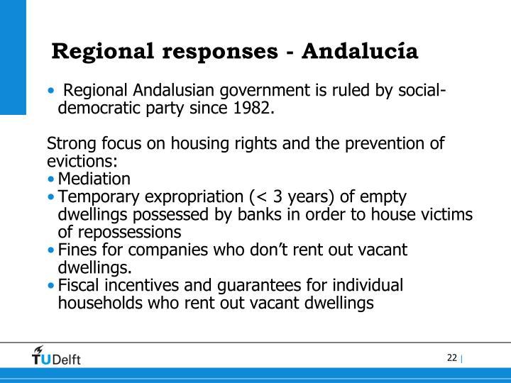 Regional responses - Andalucía