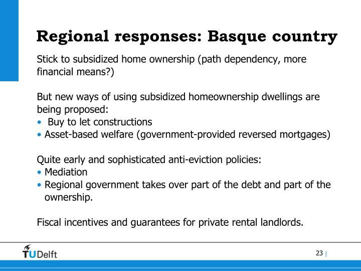 Regional responses: Basque country