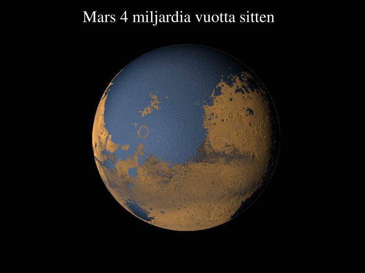 Mars 4 miljardia vuotta sitten