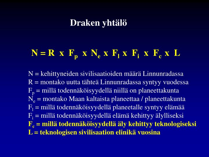 Draken yhtälö
