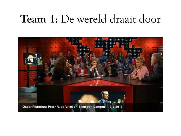 Team 1 de wereld draait door