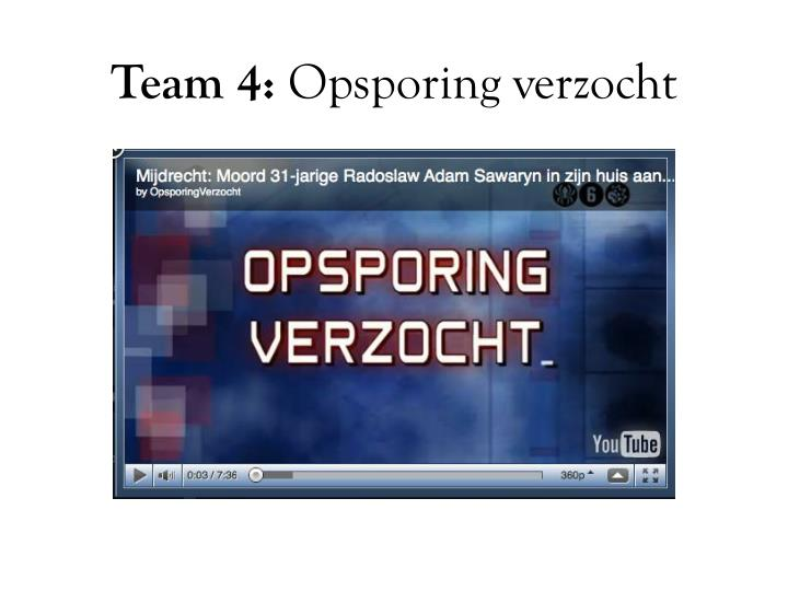 Team 4: