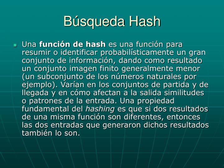 Búsqueda Hash