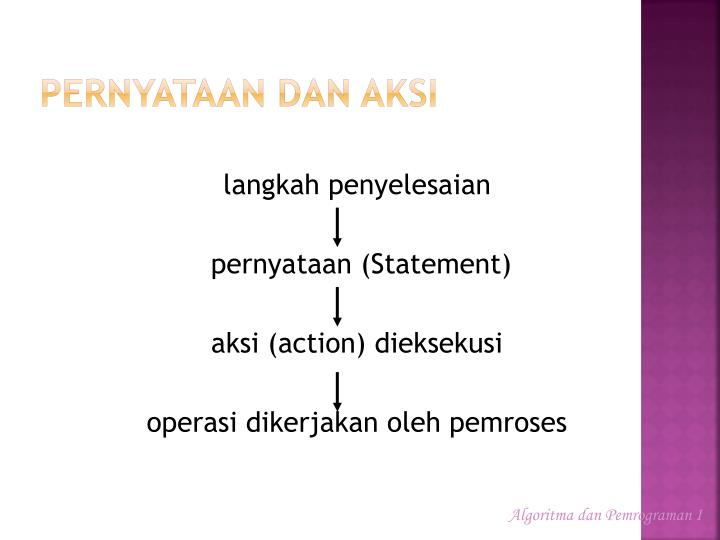 Pernyataan dan Aksi