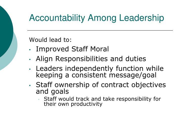 Accountability Among Leadership