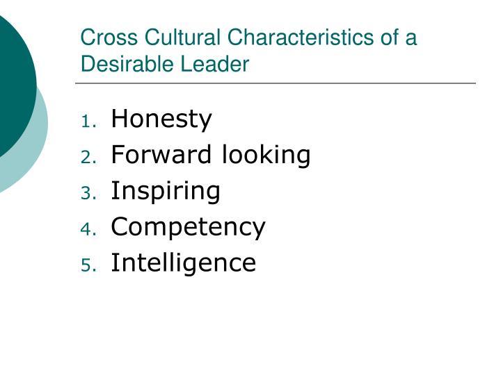 Cross Cultural Characteristics of a Desirable Leader