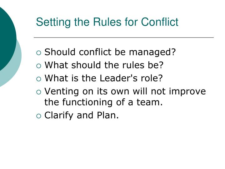 Setting the Rules for Conflict