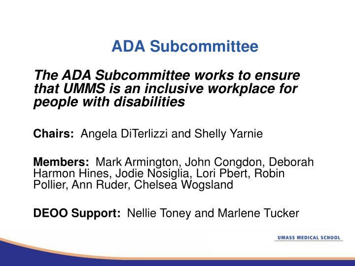 ADA Subcommittee