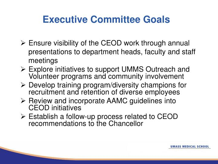 Executive Committee Goals
