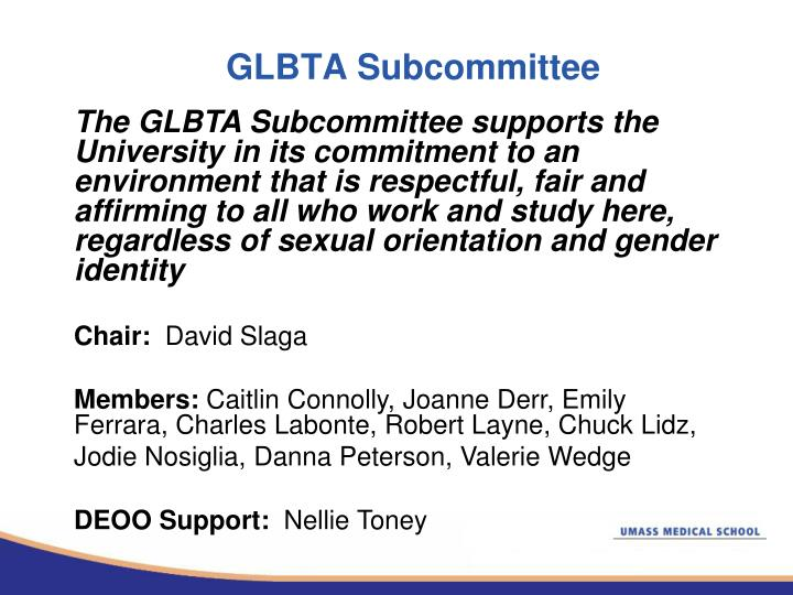 GLBTA Subcommittee