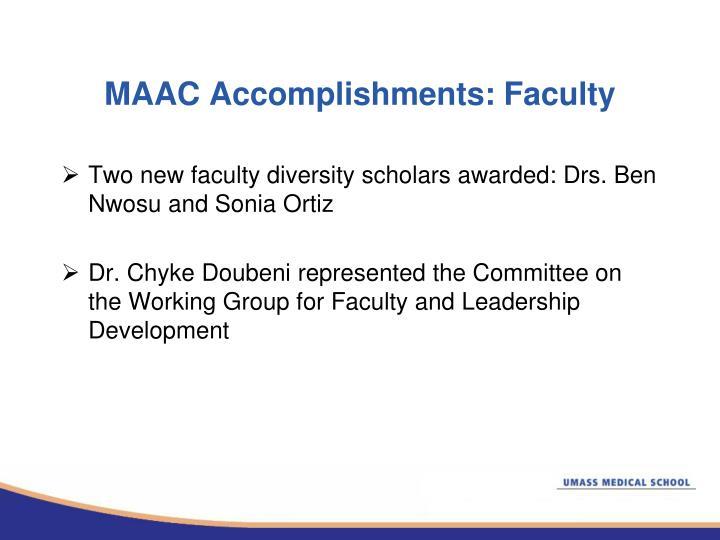 MAAC Accomplishments: Faculty