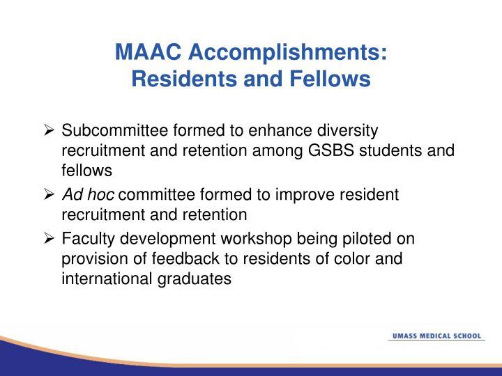 MAAC Accomplishments: