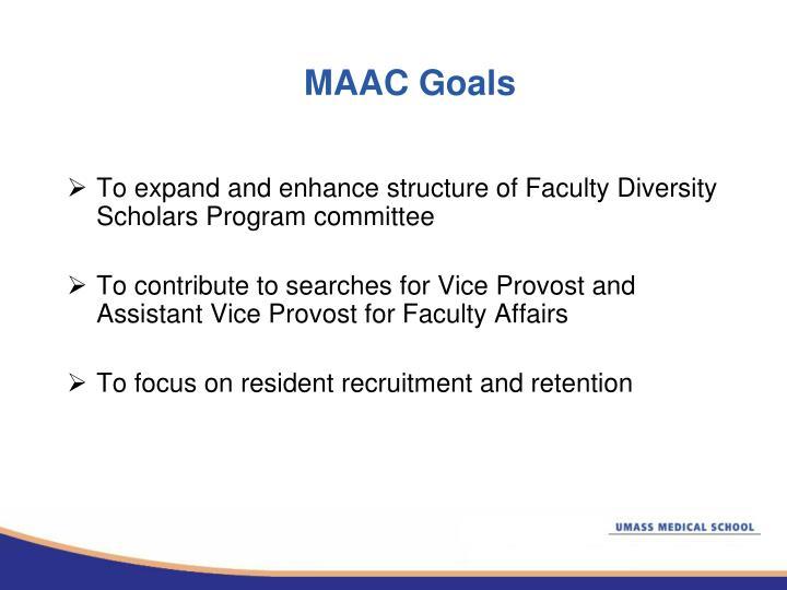 MAAC Goals