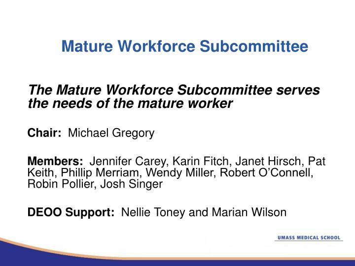 Mature Workforce Subcommittee
