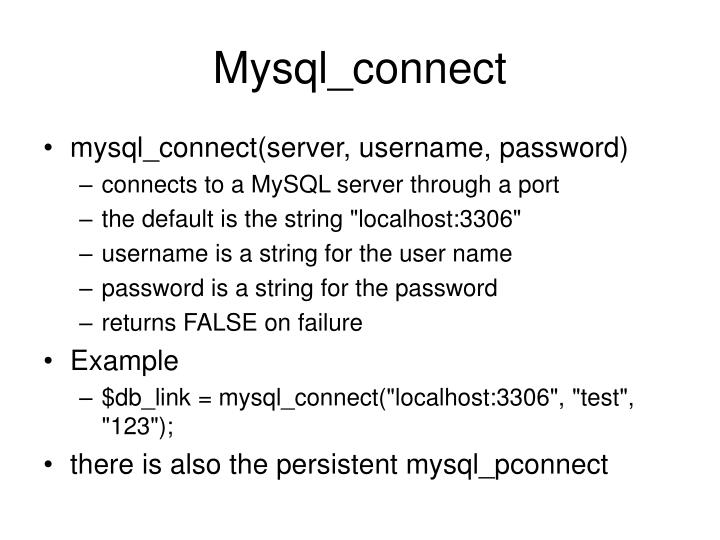 Mysql_connect