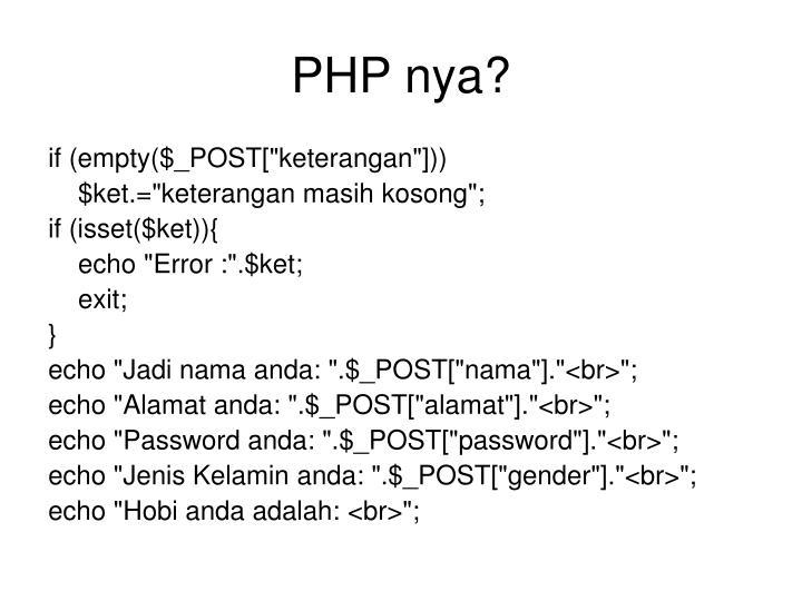 PHP nya?