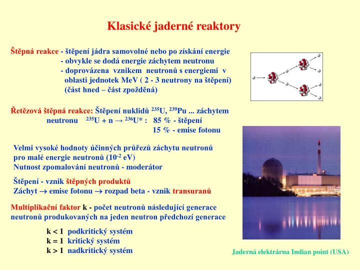 Klasick jadern reaktory