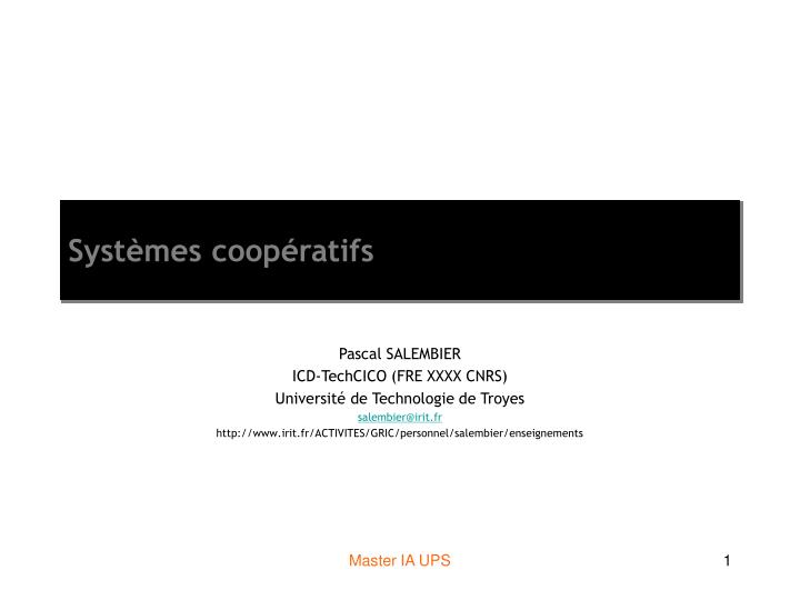 syst mes coop ratifs