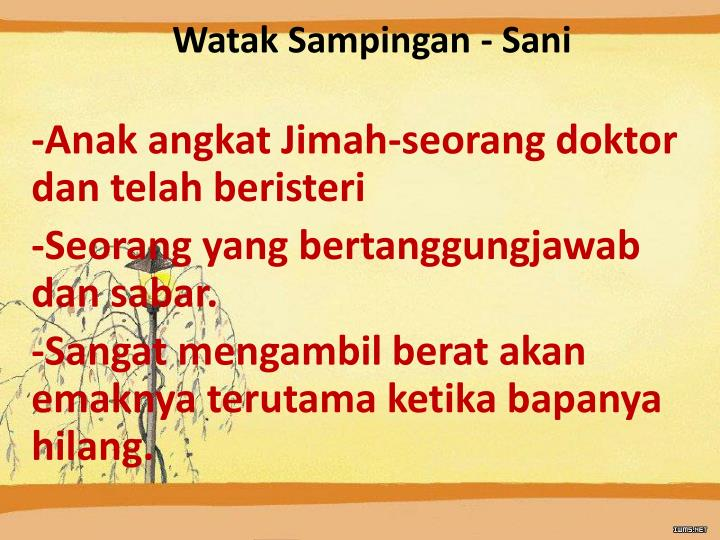 Watak Sampingan - Sani