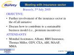 meeting with insurance sector
