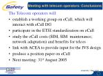 meeting with telecom operators conclusions