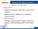meeting with telecom operators