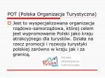 pot polska organizacja turystyczna