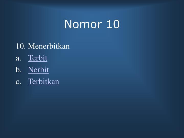 Nomor 10