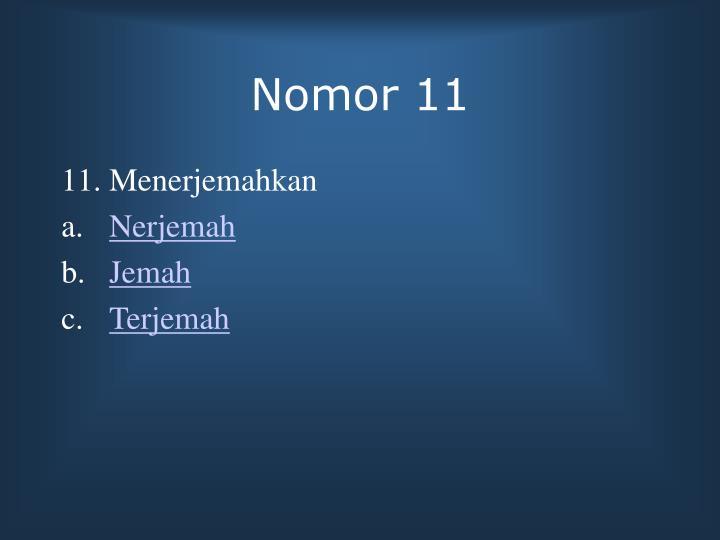 Nomor 11