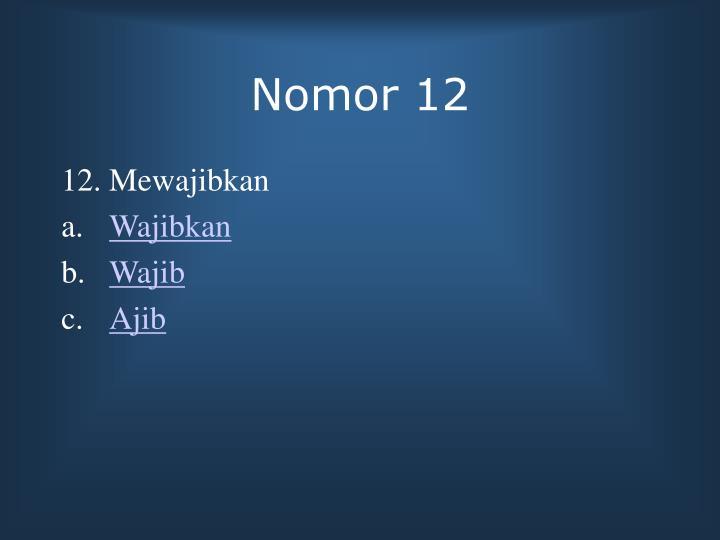Nomor 12