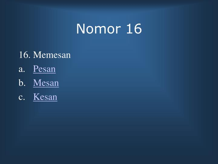 Nomor 16