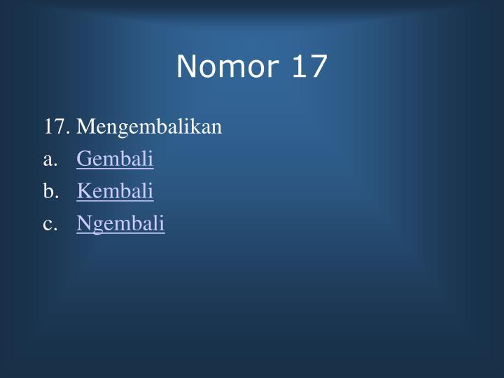 Nomor 17
