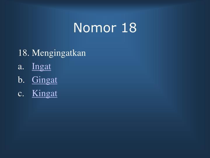 Nomor 18