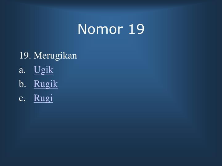 Nomor 19