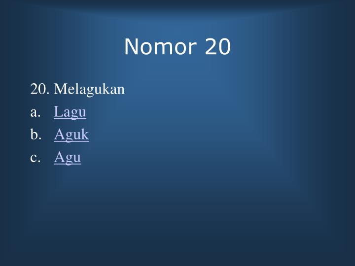 Nomor 20