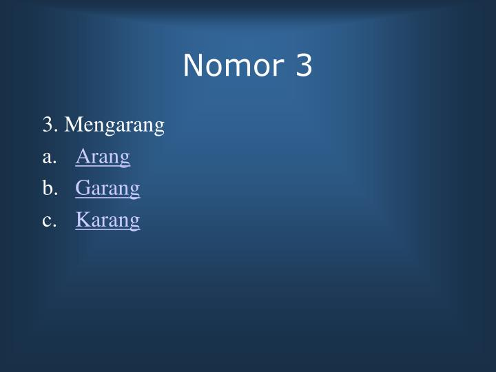 Nomor 3