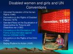 disabled women and girls and un conventions