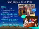 from cedaw to crpwd