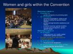 women and girls within the convention