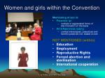 women and girls within the convention1
