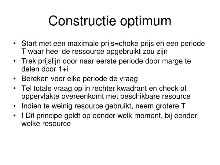 Constructie optimum