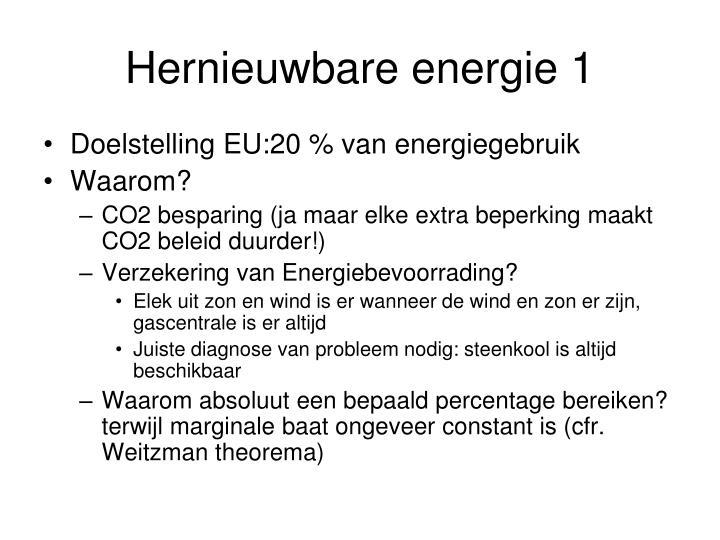 Hernieuwbare energie 1
