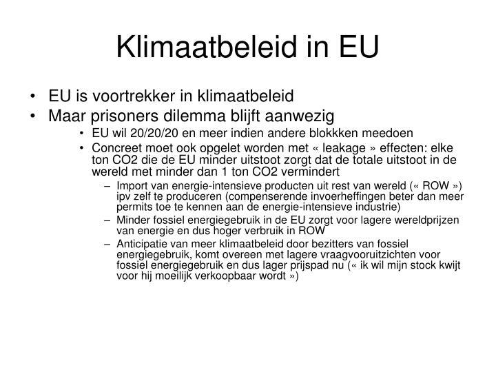 Klimaatbeleid in EU